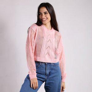 Sweater Corto Calado Manga Murcielago