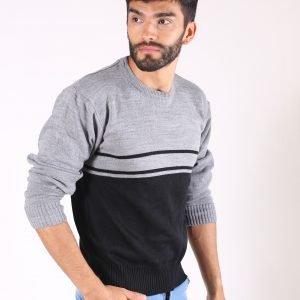 Sweater Combinado Escote Redondo