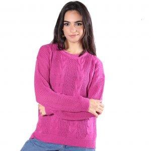 Sweater Trenza Punto Perle