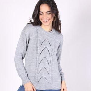 Sweater Calado Hojas